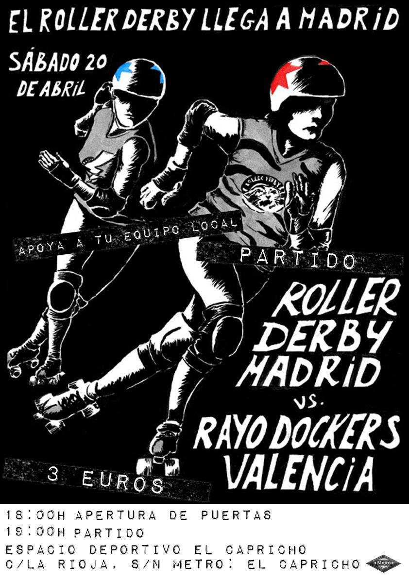Rayo Dockers vs Roller Derby Madrid
